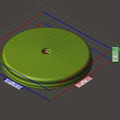 3D printing model 209 mm base for stand lamp, omni-moulage