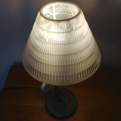 en situation.png Download 3MF file Braided lampshade • 3D printable object, omni-moulage