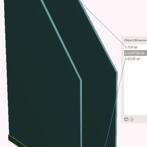 Download free STL file Cardboard Document Holder • Object to 3D print, omni-moulage