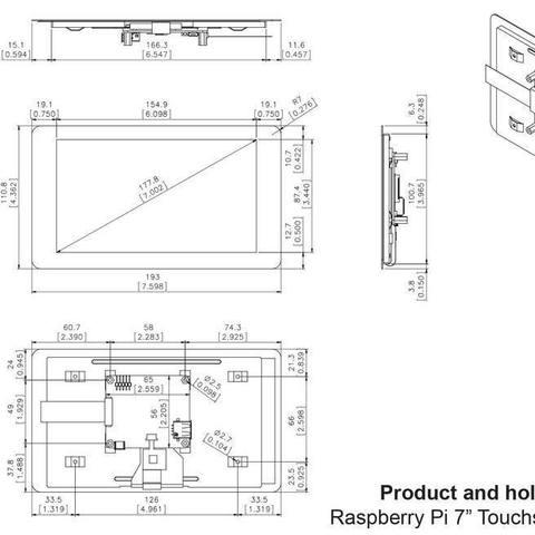 14f2458ef1f59bb59ede20498bad36df_display_large.jpg Télécharger fichier STL gratuit Prise en charge de l'écran Rasperry Clone • Design pour imprimante 3D, omni-moulage