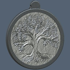 Download 3D printer model Tree of life medallion, omni-moulage