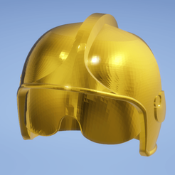 Download STL file Firefighter helmet model F1 for Playmobil • 3D printer design, omni-moulage