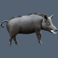 Download 3D printing templates Boar, omni-moulage