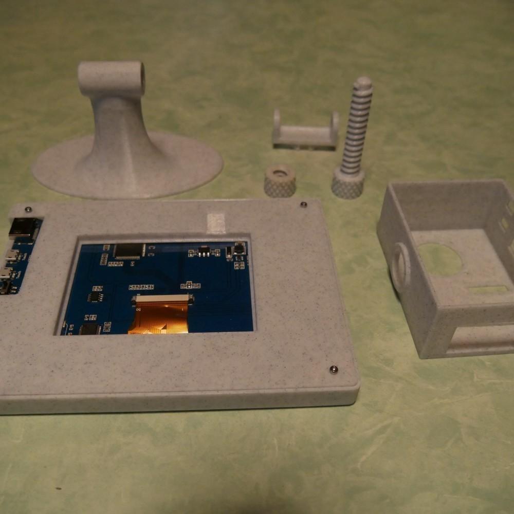 0812e26cfca1daf3bc4d61f3948e7267_display_large.JPG Télécharger fichier STL gratuit Prise en charge de l'écran Rasperry Clone • Design pour imprimante 3D, omni-moulage