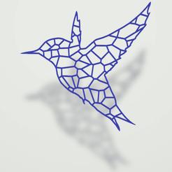 Colibri.png Download 3MF file Voronoi Dare • 3D print model, omni-moulage
