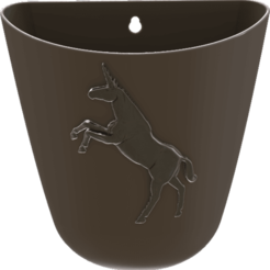 3D print model Unicorn-Wall-Flower-Pot_Smooth_version, omni-moulage