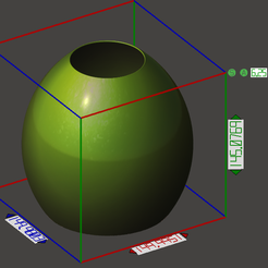 3D printing model Ovoid lamp shade for floor lamp, omni-moulage