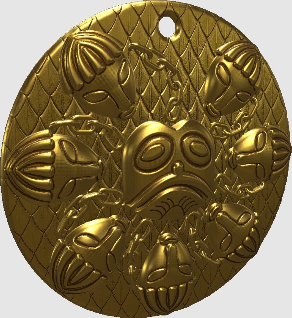 edeb414b7311a5cd4d9261fcbddd779d_display_large.jpg Download free STL file Ogma Medallion • 3D printing object, omni-moulage