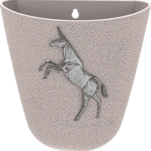 STL files Unicorn-Wall-Flower-Pot_Rough_version, omni-moulage