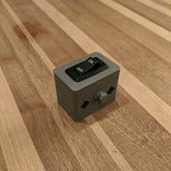 IMG_20190706_192515.jpg Télécharger fichier STL gratuit Boîtier d'interrupteur à bascule avec fixation par écrou en T • Objet pour impression 3D, TheBrassDonut