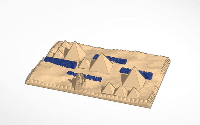product_image_3673.png Download free STL file Giza Pyramid • 3D printable template, christelle79
