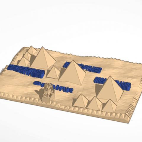Download free STL file Giza Pyramid, christelle79