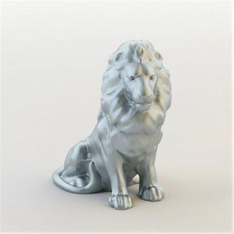 Modèle 3D lion, christelle79