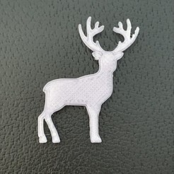 d38ead68179a90222da556d9bd81a59c_preview_featured.JPG Download free STL file Flat Reindeer • 3D printing object, christelle79