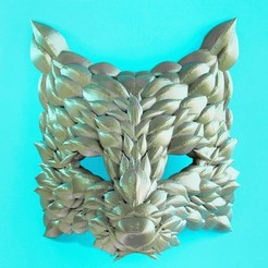 Download free STL file Poly Fox Mask, DrFemPop
