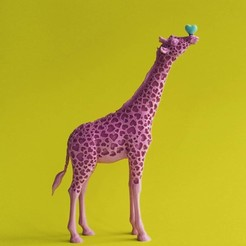 Download free 3D printing templates Giraffe Love, DrFemPop