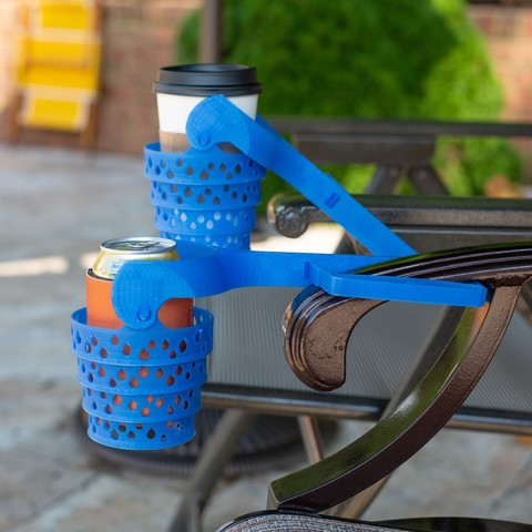 1Q5B7492.jpg Download STL file Universal Cup Holder for Open-Arm Chairs • Object to 3D print, DuaneIndeed
