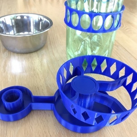 5a27d2de8bbadd56049640cfc66222c8_preview_featured.jpg Download free STL file Ant-Proof Pet Feeder • 3D printing model, DuaneIndeed