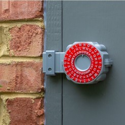 Download free STL file Deadbolt Combination Lock • 3D print object, DuaneIndeed