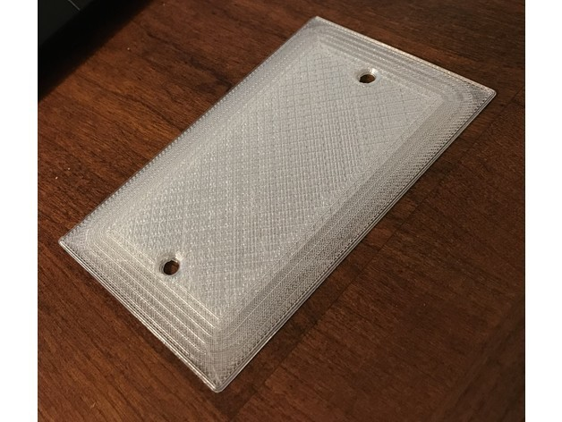 fef1d4ac76e1b68c4163fd2b53564495_preview_featured.jpg Download free STL file Wall Electrical Box Blank Plate - Extremely Flat • 3D printing model, DuaneIndeed