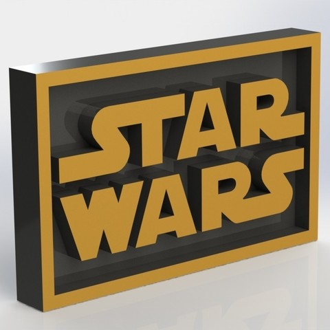 starwars_2.JPG Download STL file Star Wars Plaque • 3D printable model, taiced3d