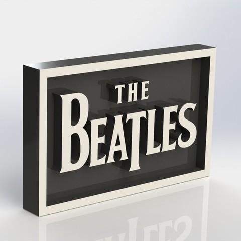 beatles_2.JPG Download STL file Beatles Plaque • 3D printing template, taiced3d