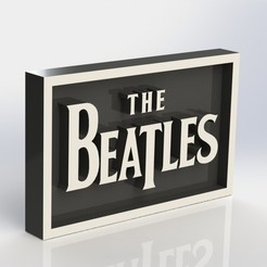 Download 3D printing models Beatles Plaque, taiced3d
