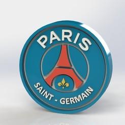 paris_ref1.JPG Télécharger fichier STL Logo de Paris Saint Germain • Plan à imprimer en 3D, taiced3d