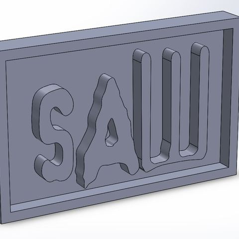 saw_0.JPG Download STL file SAW Plaque • 3D printable model, taiced3d