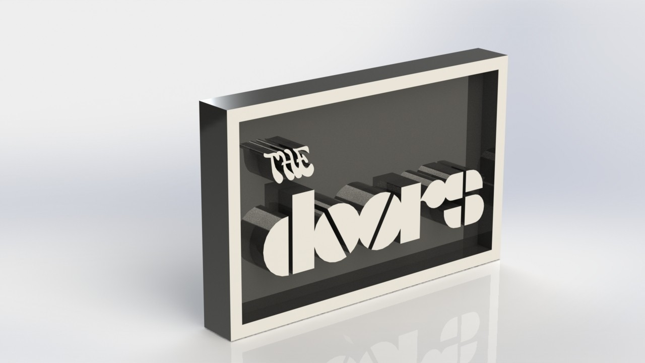 thedoors_2.JPG Download STL file The Doors Plaque • 3D printable design, taiced3d