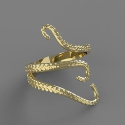 STL Octopus Ring, taiced3d