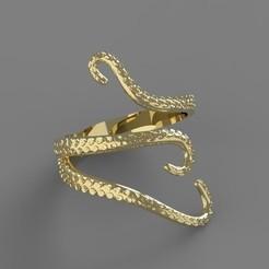 Descargar diseños 3D Octopus Ring, taiced3d