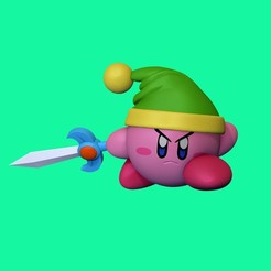 Kirby_taiced3d.jpg Download OBJ file Kirby • 3D printable template, taiced3d