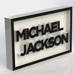 Download 3D printing files Michael Jackson Plaque, taiced3d