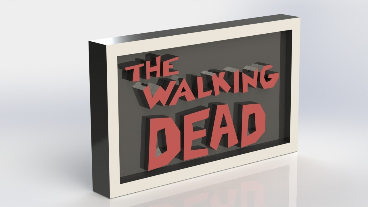 thewalkingdead_2.JPG Download STL file The Walking Dead Plaque • Model to 3D print, taiced3d
