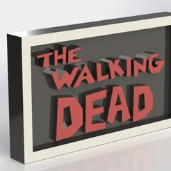 3D printer files The Walking Dead Plaque, taiced3d