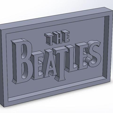 beatles_0.JPG Download STL file Beatles Plaque • 3D printing template, taiced3d