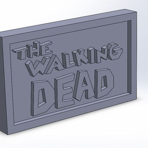 thewalkingdead_0.JPG Download STL file The Walking Dead Plaque • Model to 3D print, taiced3d
