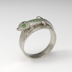 Download 3D printer designs Iguana Ring, taiced3d