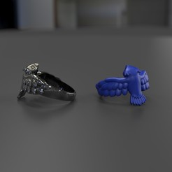 Download 3D printing templates Owl Ring, taiced3d