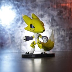 Download 3D printer designs Renamon Digimon, taiced3d