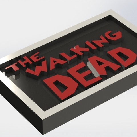 thewalkingdead_1.JPG Download STL file The Walking Dead Plaque • Model to 3D print, taiced3d
