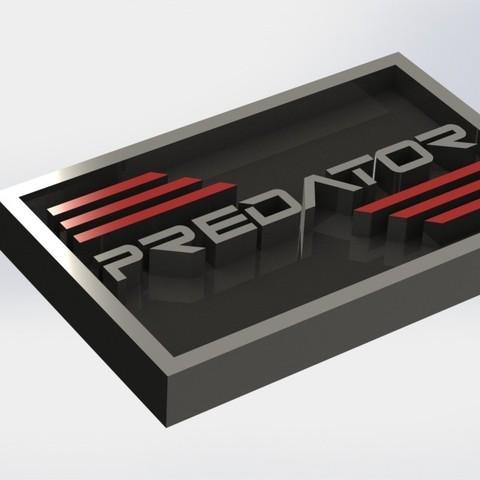 predator_1.JPG Download STL file Predator Plaque • 3D printer model, taiced3d