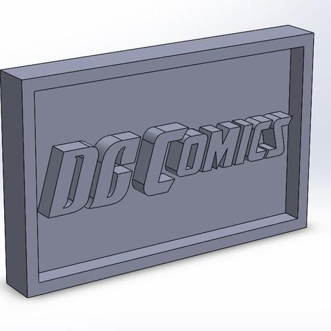 dccomics_0.JPG Download free STL file DC Badge Comics Logo • 3D print design, taiced3d