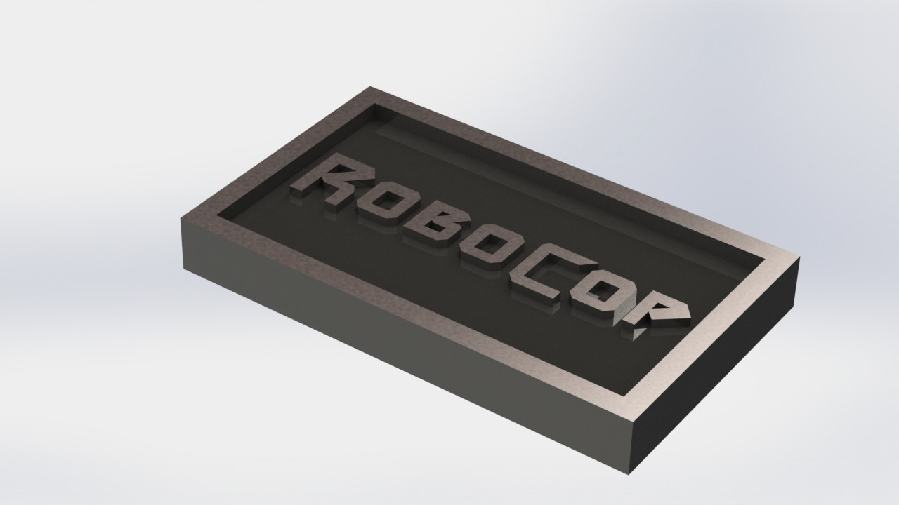 robocop_1.JPG Download STL file Robocop Plaque • 3D printing template, taiced3d