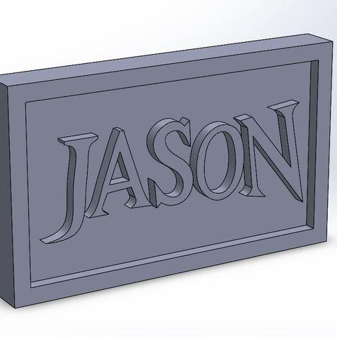 jason_0.JPG Download STL file Jason Plaque • 3D print object, taiced3d
