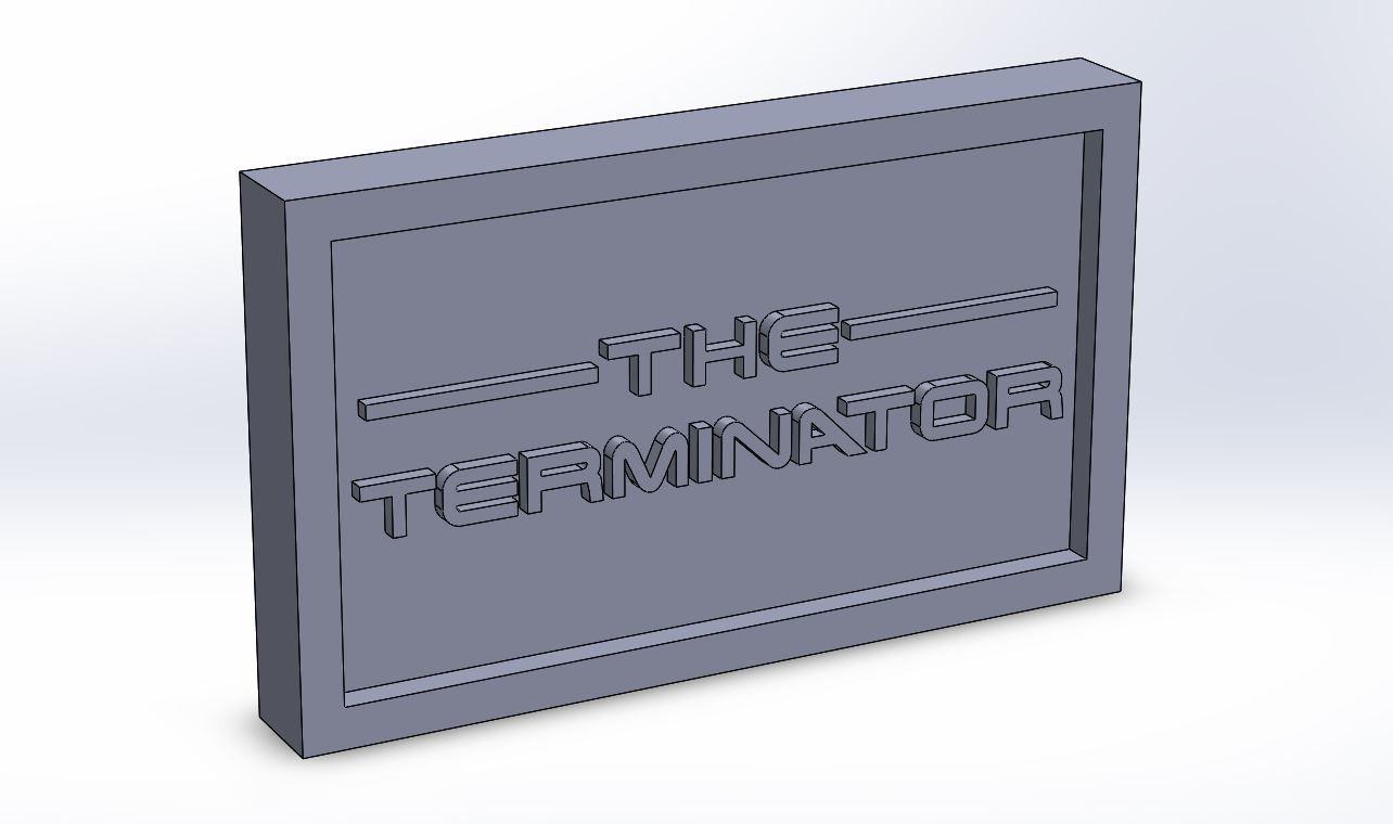 terminator_0.JPG Download STL file Terminator Plaque • Design to 3D print, taiced3d