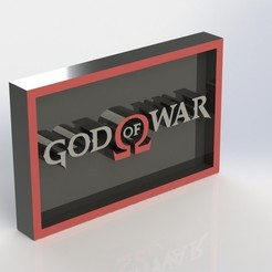 3D print files God of war GOW Plaque, taiced3d