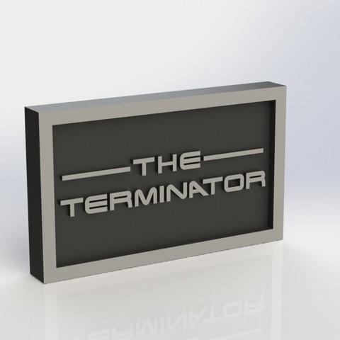 terminator_2.JPG Download STL file Terminator Plaque • Design to 3D print, taiced3d