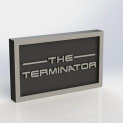 stl file Terminator Plaque, taiced3d